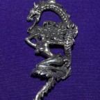 Dragon Woman Silver Pendant